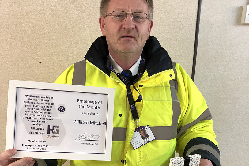 Employee of the month - William Mitchell