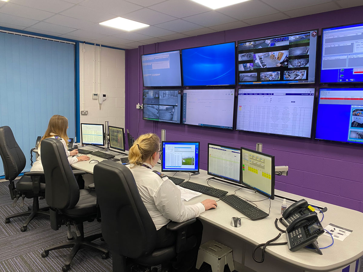 What happens in the Herongrange control room?
